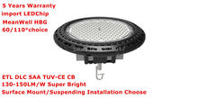 135lm/W Super Bright Industrial LED High Bay Light 150W Warehouse LED Lamp Meanwell Driver UFO LED High Bay