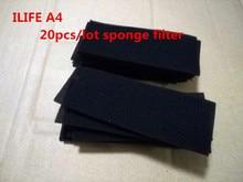 20pcs/lot chuwi sponge filter ILIFE A4 robot vacuum cleaner ILIFE A4s A6 A4 cleaning robot vacuum cleaner parts