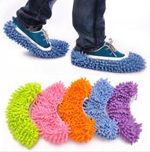 1 Pair Dust Mop Slipper Lazy House Floor Polishing Cleaning Easy Foot Sock Shoe Cover(China)