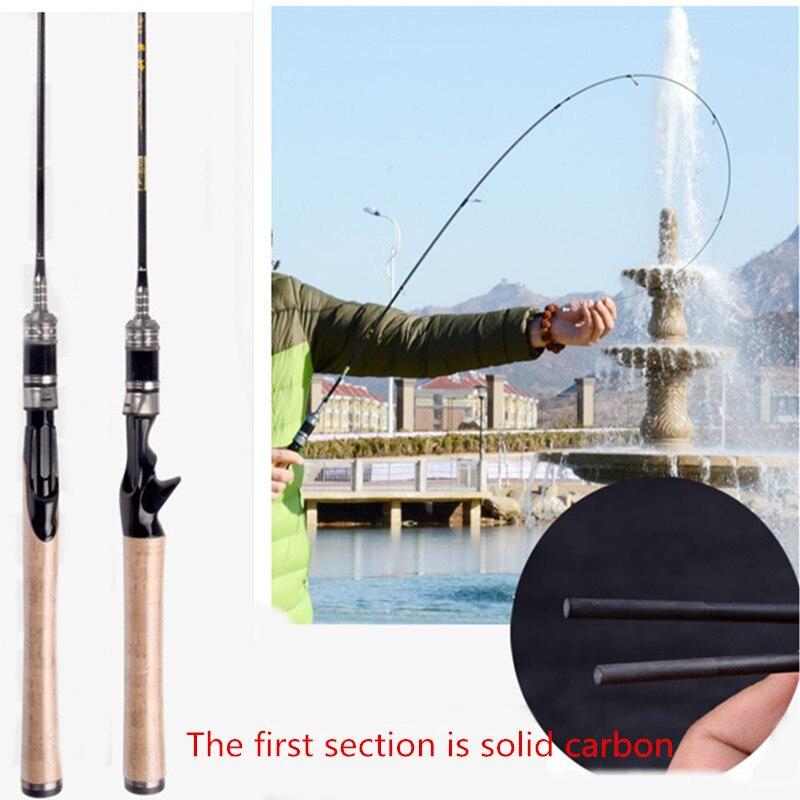 1.68m stream ultra light soft pole 1.5-5g 3-6lb 562ul trout panfish spinnrute baitcaster pole <br>