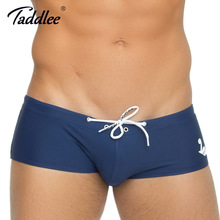 Taddlee Brand Sexy Men's Swimwear Swimsuits Swim Briefs Bikini Solid Swimming Boxer Brief Gay Penis Pouch Surfing Board Trunks(China)