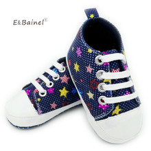 E&Bainel Baby Shoes Fashion Star Print Canvas Shoes Soft Prewalkers Casual Baby Girl Boys Shoes Baby Moccasins(China)