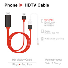 2017 Newest Phone to HDMI Cable 2M 8 Pin Lightning To HDMI HDTV AV Cable 1080P For iPhone 5/5S/6/6S/7 Plus/iPad/iPod HDMI Cable