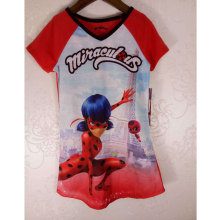 2017 new New Girls Miraculous Tales of Ladybug Graphic T-Shirt Powerpuff girls Sleepwear Costume Cat Noir Adrien Cosplay Shirt(China)