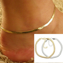 New Women Ankle Bracelet Foot Jewelry Simple Gold Silver Chain Charm Beach Bohemia Anklet Gifts(China)