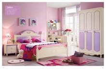 3313 Children bedroom furniture sets children bed wardrobe desk chair nightstand(China)