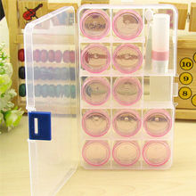 Hot Travel Portal Portable Clear Contact Lens Case Set Pill Storage Box Case Cleaner Holder Wholesale