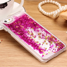 Buy Clear Transparent Dynamic Glitter Liquid Sand Quicksand Star Hard PC Case iphone 4 4S 5 5S SE 6 6S Plus Cover funda coque for $1.42 in AliExpress store