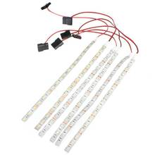 High Quality 60cm 18 LED 5050 SMD PC Computer Case Waterproof Flexible Strip Tape Light DC12V Red Blue Green Yellow Warm White