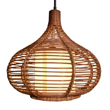 New Modern Rattan Pendant Light Study Dining Room Pendant lamp Southeast Asia Stylish Restaurant Pedant Lighting