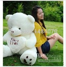 I Love You Big Teddy Bear Plush Toy Birthday Gift Girls Plush Toys Stuffed Animals dolls Heart Baby Bear White Beige 50CM