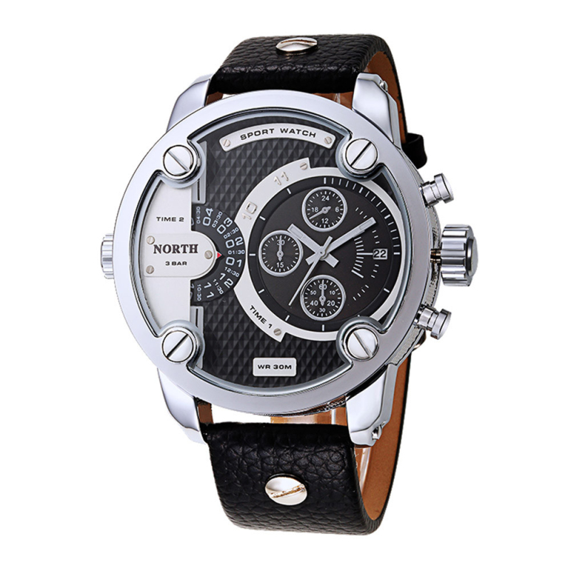 relogio masculino 2016 Mens Watches NORTH Brand Luxury Casual Military Quartz Wristwatch PU Leather Male Clock watch Horloges<br><br>Aliexpress