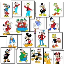 5D DIY Diamond Painting Mickey Mouse family Crystal Diamond Painting Cross Stitch Needlework Green Lawn Garden Home Decorative
