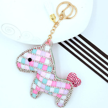 NEW CUTE COLORFUL CRYSTAL FRIENDLY HORSE KEYCHAIN BAG HANDBAG PURSE BACKPACK CHARMS PENDANT ACCESSORT EXCELLENT GIFT FOR FRIEND(China)