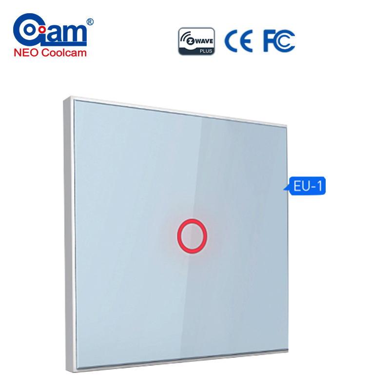NEO Coolcam Smart Home Z-Wave Plus 1CH EU Light Switch Compatible With Z wave 300 Series And 500 Series Home Automation<br>