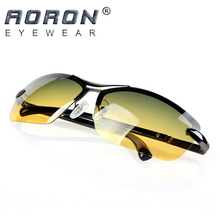 AORON Men's Polarized Sunglasses Day and Night Glasses Vison Multifunction Reduce Glare Goggles LOGO Original Box Eyewear de sol