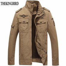 Cotton Bomber Jackets Men 2016 Military Beige Jacket Men Spring Jackets Mens Coats Army Outdoors Army Jacket Homme Coat 6XL