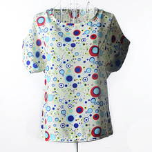Summer Large Size Womens Chiffon Clothing Summer Lady T-Shirt Hot Sale New Casual Tops Short Sleeve 19 Colors Bubble Shirts LQ19
