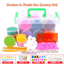 24/36colors Air Dry Clay Polymer Modeling Clay Set Light Clay Play Dough Playdough Intelligent Plasticine Jumpimg Clay Toys(China)
