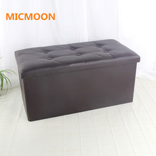 MICMOON Storage Ottoman Polyester Folding Stool, Basket Bins Organizer Containers,Collapsible Foot Rest Seat