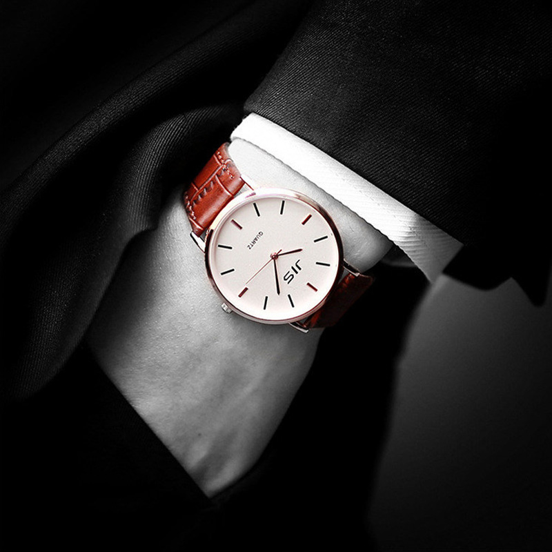 Mens Watches Top Brand Luxury Ultra Slim Calendar Display Quartz Watch Men 2016 Business Leather Band Relogio Masculino<br><br>Aliexpress
