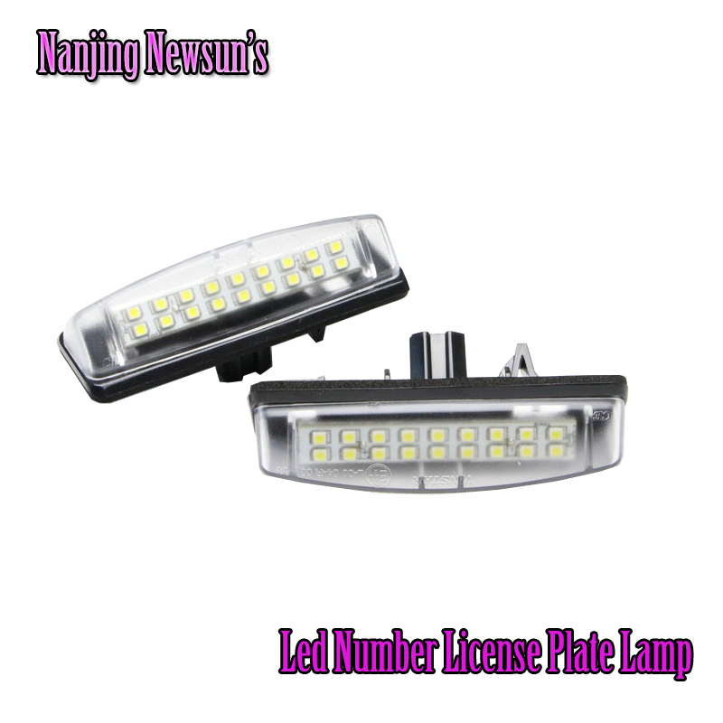 2PCs/Set Led License Plate Lamps Light For Toyota Camry For Lexus For Mitsubishi 18SMD Plug&amp;Play Tail Back Lights Bulb 12V<br><br>Aliexpress