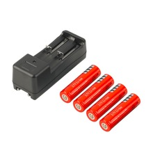 In stock! 4pcs 18650 5000mAh 3.7V Li-ion Rechargeable Battery + Smart Charger EU Plug