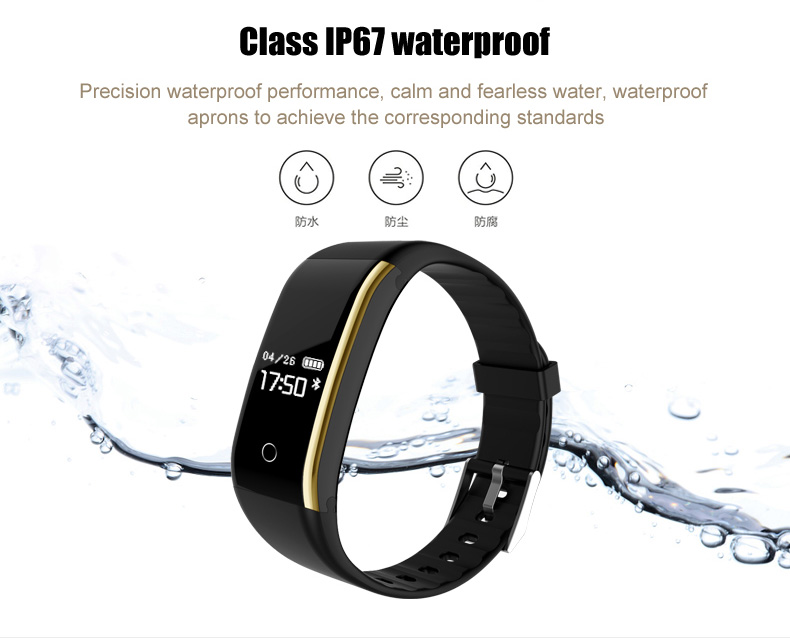 Waterproof Android Pedometer + Blood Pressure & Heart Rate Monitor Wrist Watch 21
