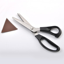 23.5cm Zig Zag Sewing Cut Dressmaking Tailor Shear Pinking Scissor Leather Handicraft Fabric Upholstery Tool Textile DENIM DIY