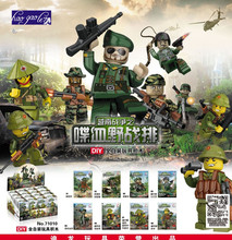 haogaole 8pcs D71010 Militray police Weapons Army Soldiers Building Set Blocks Toys For Children Compatible With lepin toys