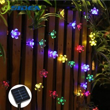 OSIDEN Solar String Lights 8M 60led Peach Flower Waterproof Outdoor Decoration Lighting XAMS Fariy Christmas Lights Garden
