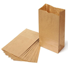 50pcs/lot 28X15X9cm Kraft Paper Small Gift Bags Sandwich Bread Food Bags takeout take out Bags Party Wedding Favour(China)
