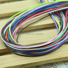 10 meters/piece 1MM diameter Waxed Thread Polyester Cord String Strap Wholesale Necklace Rope Bead Fit shamballa Bracelet(China)