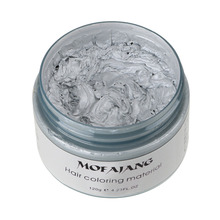 2Pcs/lot MOFAJANG Unisex DIY Hair Color Wax Mud Silver Ash Grandma Grey Men And Women Temporary Disposable Coloring Mud Cream