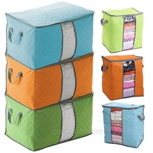 2016 Hot Sale Foldable Storage Box Portable Organizer Non Woven Clothing Pouch Holder Blanket Pillow Underbed Storage Bag Box #5