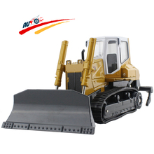 Alloy 1:25 Crawler Bulldozer & Cultivator High Simulation Diecast Model Toy For Children Gift Toys(China)