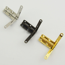 10pcs 28x21mm Retro Jewelry boxs Hinge support Iron Spring Hinge Antique Bronze For Miniature Furniture Hinges
