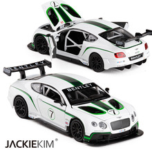 New 1:32 Bentley Continental GT3 Alloy Models Car Toys Luxurious Diecasts Vehicles Roadster Model With Pull Back For Baby Gifts