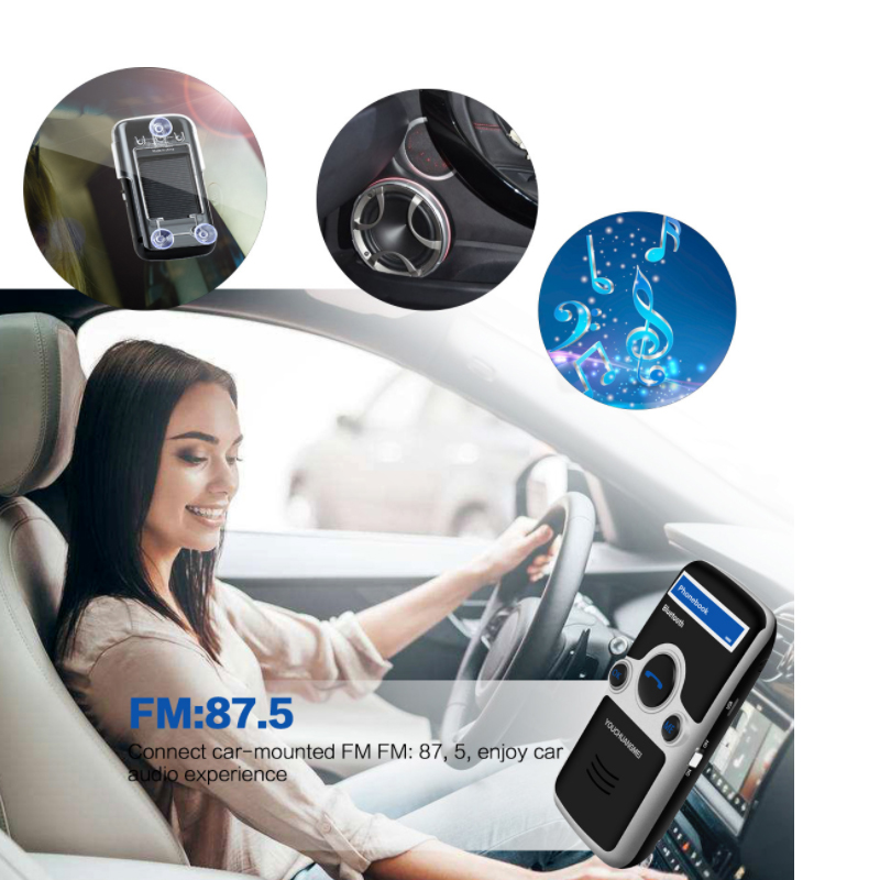 E0176-(with LCD display)Solar Bluetooth Car Kit Handsfree-6 (7)