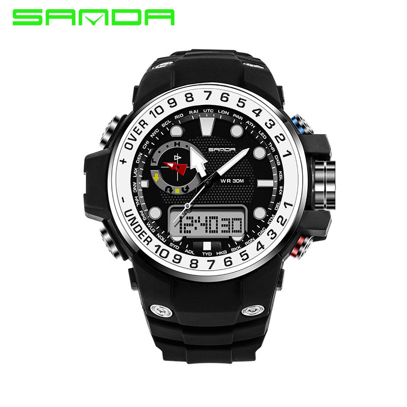 5 Color Relogio Masculino Digital Sport Watches Waterproof Multifunction Climbing Dive LED Digital Watches Mens Wrist Watches<br><br>Aliexpress