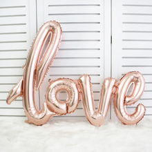 "Script Love Foil Balloons 40"" - Rose Gold Balloons Love Balloons Bachelorette Party Wedding Decoration Ideas - Bridal Shower(China)"