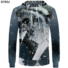 Buy KYKU Brand Wolf Hoodie 3d Print Hoodies Women Animal Sweatshirts Funny Hoodies Fashion Clothes Womens Clothing Autumn Winter New for $14.92 in AliExpress store