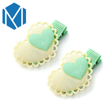 M MISM 1pair Girls Hair Accessories Double Heart Hairpins Baby Barrettes High Quality Children Ornaments Kids Hair clip