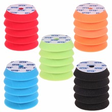 "SPTA 6Pcs Black/Red/Orange/Blue/Green 6""(150mm) Buffing Pad Polishing Pads Kit Set For Car Polisher --Select Color You Want(China)"