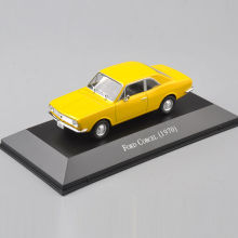 1/43th Diecast Ford Corcel (1970) Yellow Car Vehicle Collectible Model Car Kids Toys brinquedos New Year Gifts