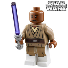 SingleSale STAR WARS Rogue One Jedi Master Mace Windu with Lightsaber minifig Assemble DIY Building Blocks Kids Gift Toys