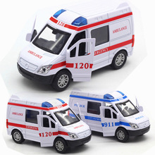 Ambulance Fire Truck Express Car Alloy Vehicles Model Diecasts Toy Vehicle