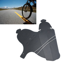 2 Pcs Bike Bicycle Front Rear Mudguard Fenders Road Cycling Mountain Bicycle MTB Made of a robust flexible plastic 360torsion(China)