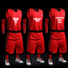 XUNFEI Men Basketball Uniforms Professional DIY Custom Team Jersey Stitched Sportswear Basketball Shirt Sets(China)