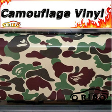 Military Woodland Camouflage Wrap Vinyl Truck Vehicle Snow Camouflage Wrapping Sticker Film Covers Matte/Glossy Finish